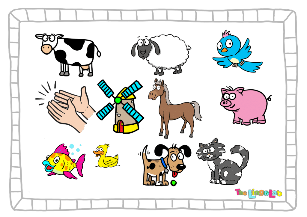 Group of animal images